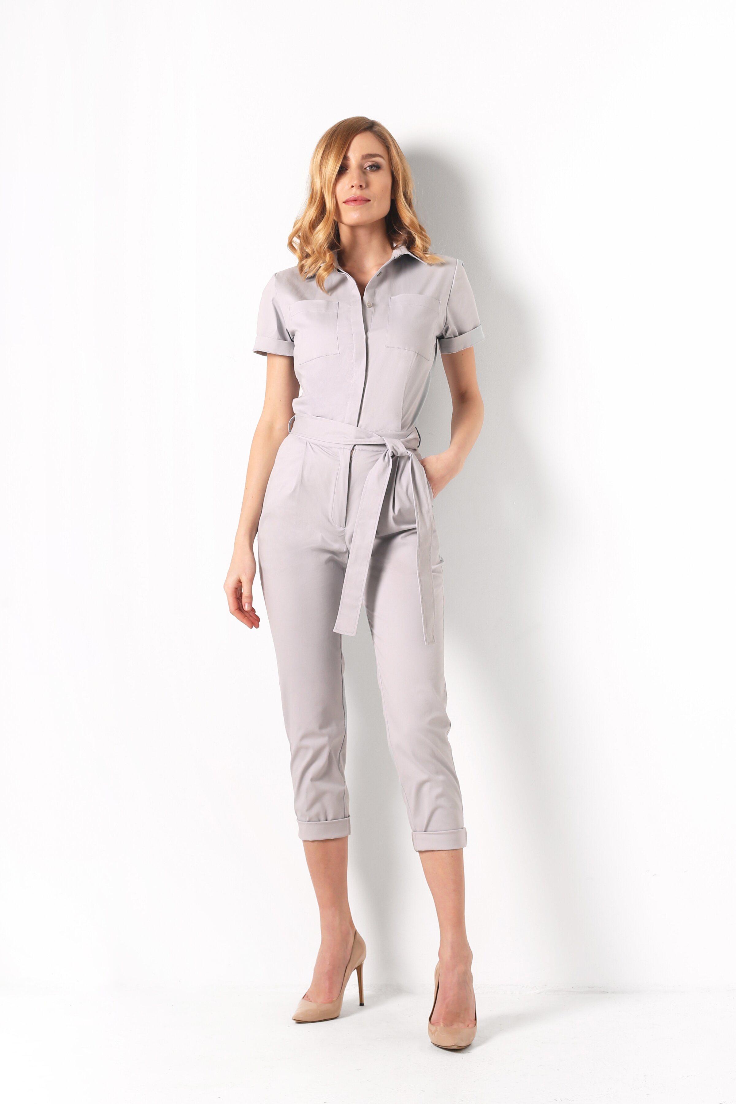 Jumpsuit, Light gray, Cotton, Spring Summer, In stock
