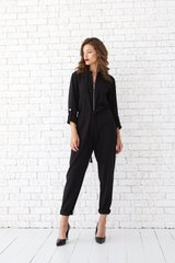 Overalls, The black, Diagonal, Аutumn winter, In stock